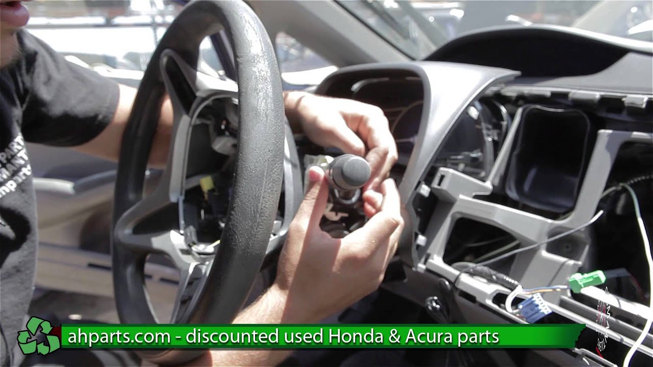 How to replace change a head light wiper switch 06 07 08 09 10 11 honda civic replace diy
