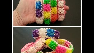 "New ""Powder Puff"" Rainbow Loom Bracelet/ How To Tutorial"