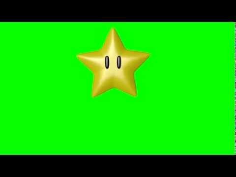 Mario Star Spinning # Green Screen