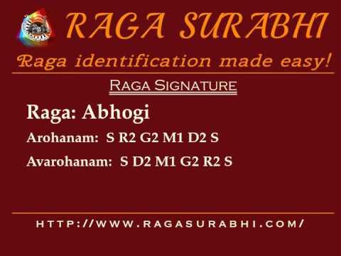 Raga Abhogi: Arohanam, Avarohanam and Alapana  Raga Surabhi