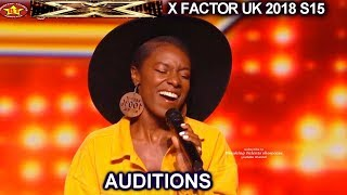 "Shan 25 yo Session Singer ""Never Enough"" SIMON IS BLOWN AWAY AUDITIONS week 3 X Factor UK 2018"