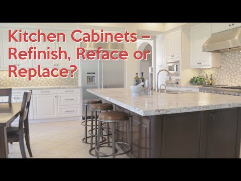 Kitchen Cabinets – Refinish, Reface or Replace - YouTube