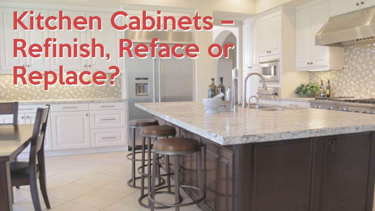 Kitchen Cabinets Refinish Reface Or Replace