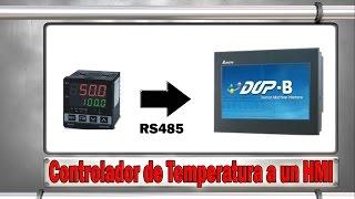 Coneccion de Controlador de temperatura a un HMI