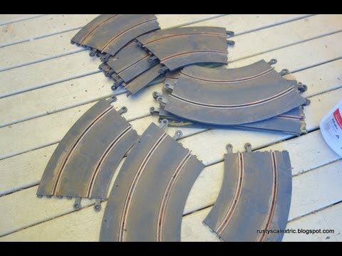 How to cheaply remove rust from Scalextric track