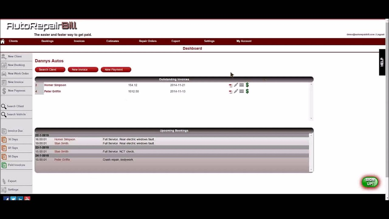 Auto Repair Bill Invoice Software Getting Started Voice YouTube