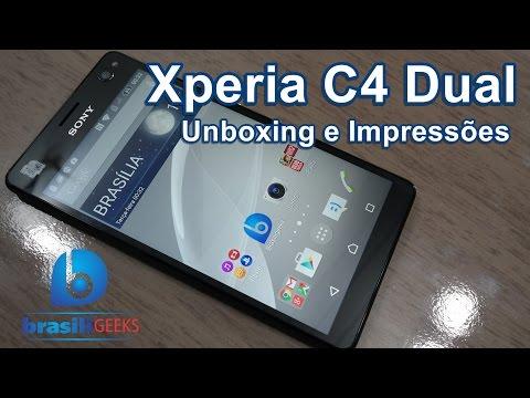 Xperia C4 Dual - Unboxing e Impressões