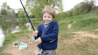 Карп в Сосенках  Детская рыбалка