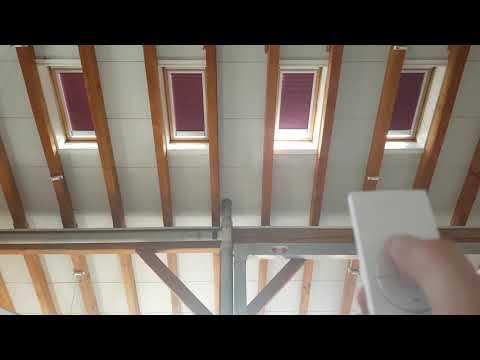 Ferngesteuerte Plissees in Serienschaltung mit Solaraufladung, kabellose Montage