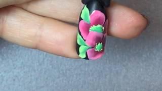 Цветы выполненные в технике китайской росписи! Тонкие линии! Китайская роспись! Пошаговый видео урок