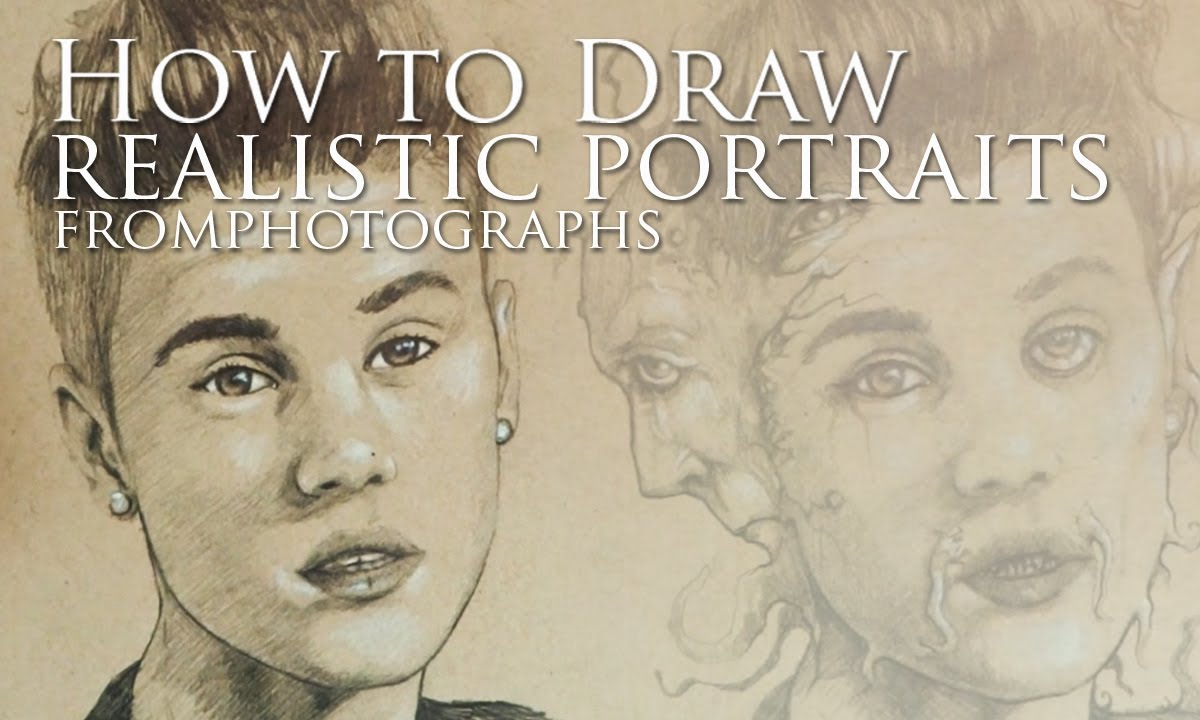 how to draw realistic portraits from photographs youtube