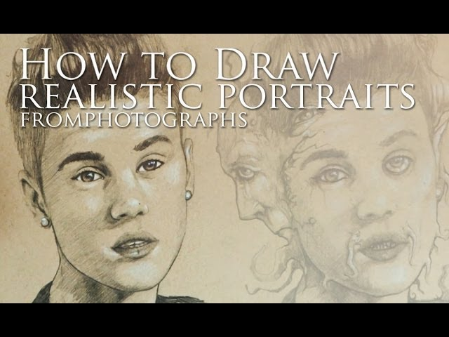 how to draw a realistic portrait from a photograph 6 steps