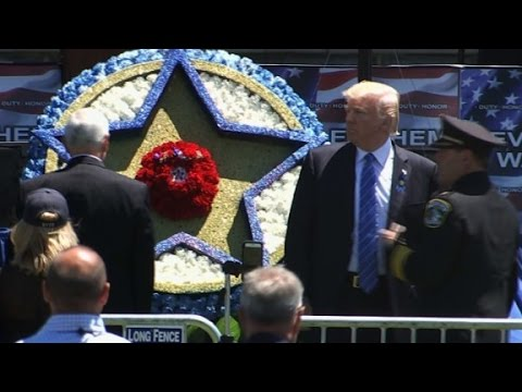 Trump honors police officers (entire speech)