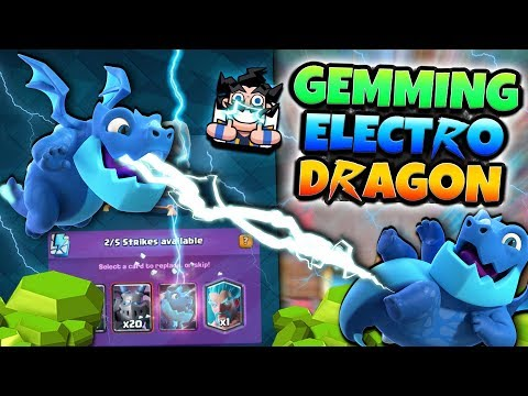 GEMMING NEW CARD ELECTRO DRAGON! | Clash Royale | HIGH LEVEL ELECTRO DRAGON GAMEPLAY!
