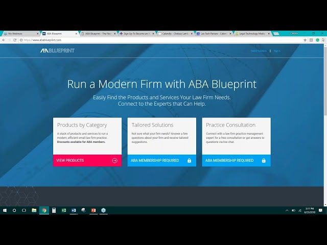 Vendor Webinar Series - ABA Blueprint Benefits Overview