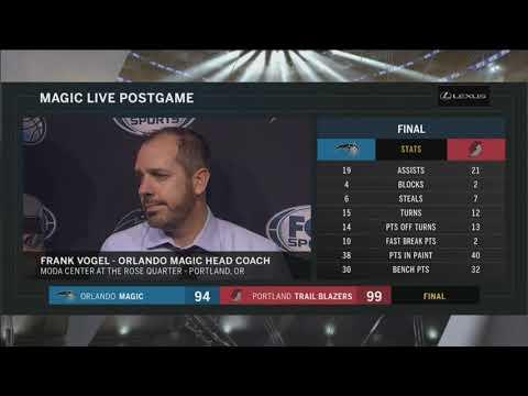 Frank Vogel -- Orlando Magic at Portland Trail Blazers 11/15/2017