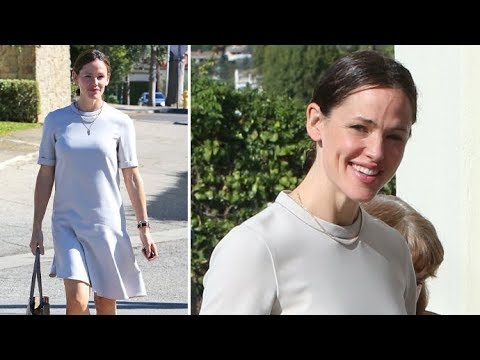 Jennifer Garner Looks Flawless In White Dress Sunday Morning After Partying With Friends