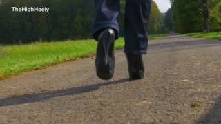 Walking with my leather ankle boots