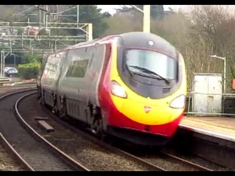 English High speed trains at Berkhamsted, 200kmh 125mph