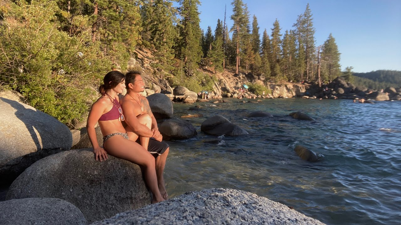 Secret Cove, Nude Beach, Lake Tahoe, Nevada - Online Yoga