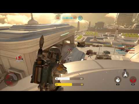 Star Wars Battlefront: Boba Fett On Cloud City Walker Assault Gameplay [60fps]