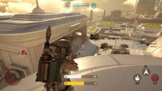 star wars battlefront boba fett on cloud city walker assault gameplay 60fps