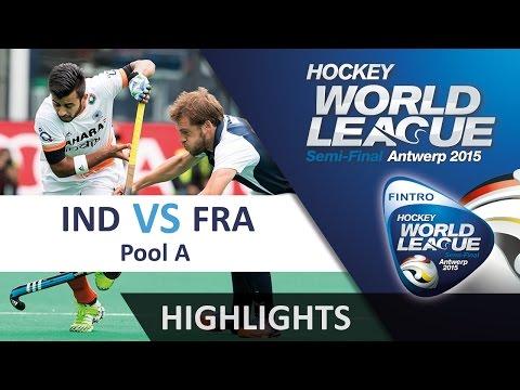 India v France Match Highlights - Antwerp Men's HWL (2015)