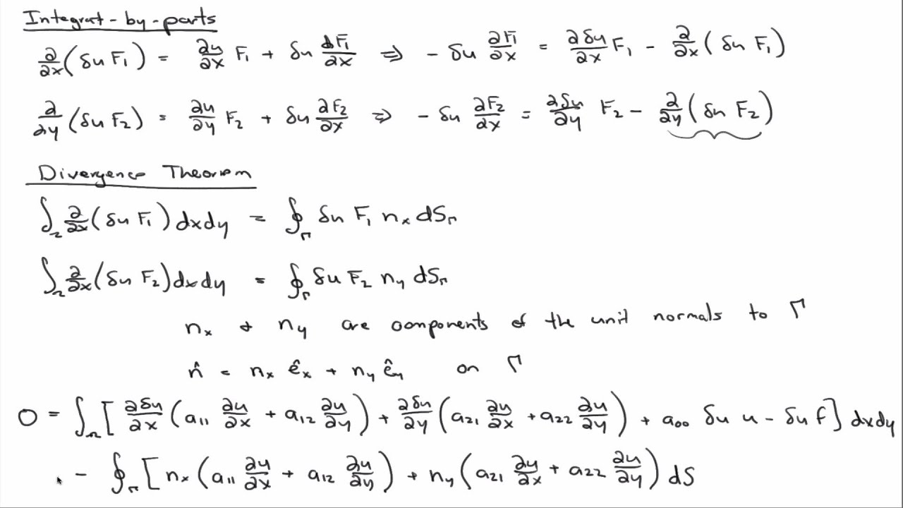 Weak form of 2D model equation - YouTube