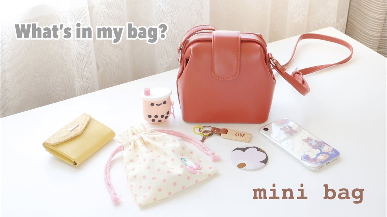 What's in my mini bag? ep.2 เปิดกระเป๋าสะพายหนังใบเล็กน่ารักๆ สไตล์เกาหลี korean style bag [ไทย]