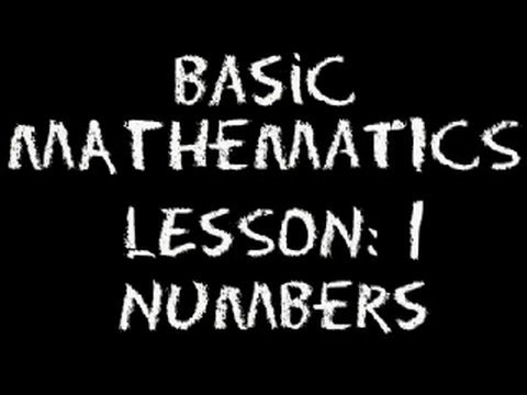 Basic Math: Lesson 1 - Numbers
