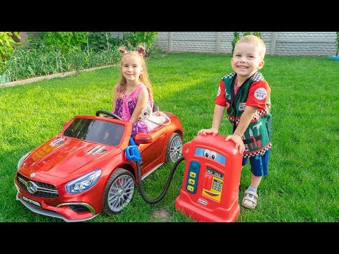 Melissa And Arthur Pretend Play With Cars And Ride On Power Wheels Compilation