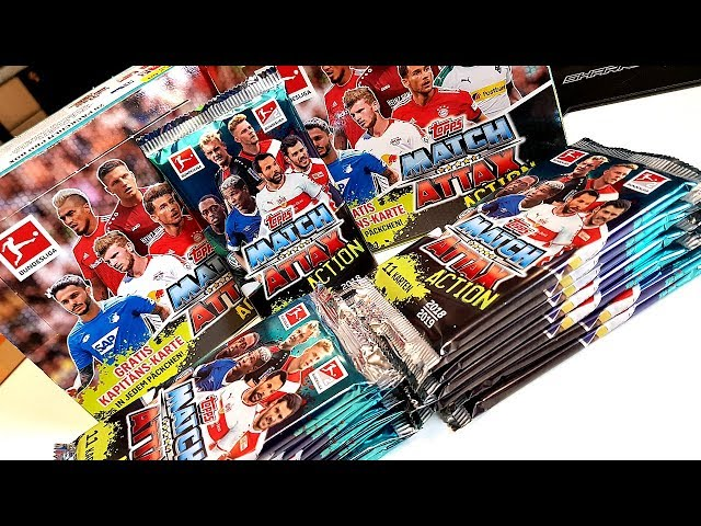 Komplettes MATCH ATTAX ACTION 18/19 Display Unboxing