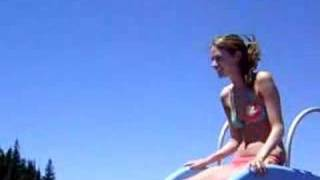 Sarah Going Down The Slide. Timothy Lake 2007