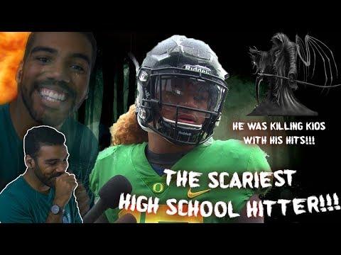 The Hardest Hitting High School Football Player I've Ever Seen!!! Fotu Leiato Highlights [Reaction]