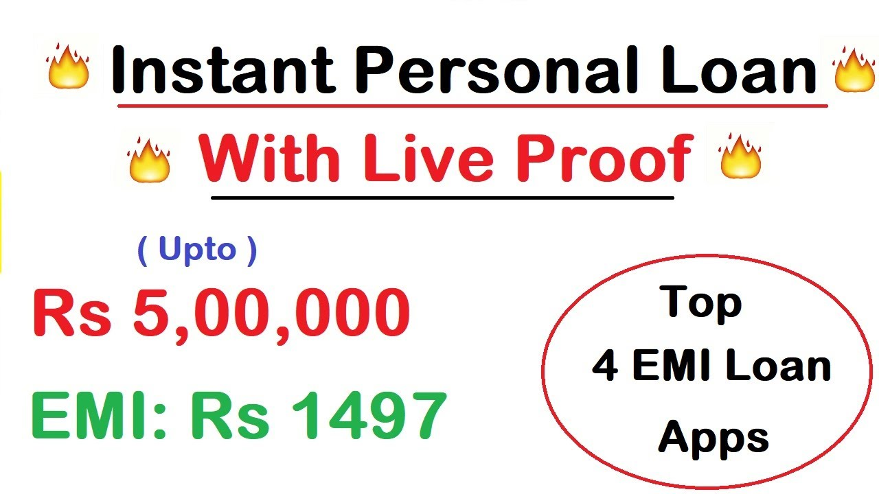 Instant Personal Loan With Live Proof Top 4 Emi Loan Apps Working In Lockdown No Paperwork Youtube