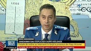 Conferinţa de presă a Jandarmeriei, după mitingul din 10 august. Se anunţă noi proteste