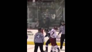 Wenatchee wild hockey (fight)