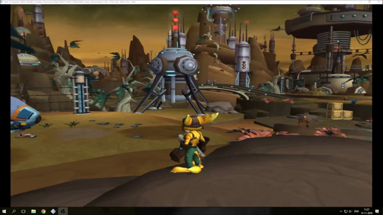 PCSX2 (PS2) Improved Hardware Rendering With Ratchet & Clank