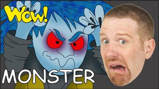 Monster for Kids | Songs for Children with Steve and Maggie from Wow English TV | Rhymes Song