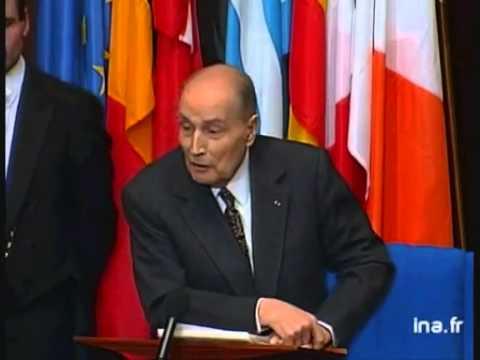 François Mitterrand à Strasbourg en 1995