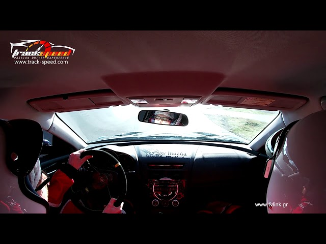 Our Mazda RX8 on Serres Circuit, Coaching Session Track-speed.com