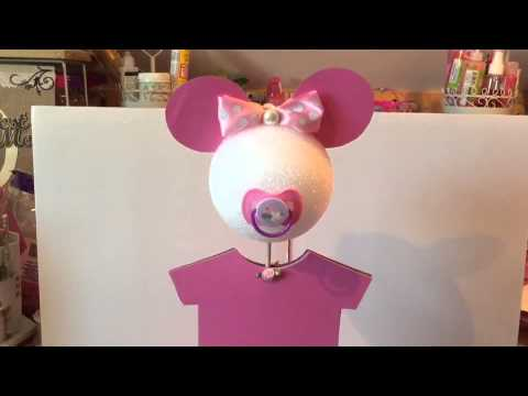 Minnie Mouse Baby Shower Center Pieces Youtube