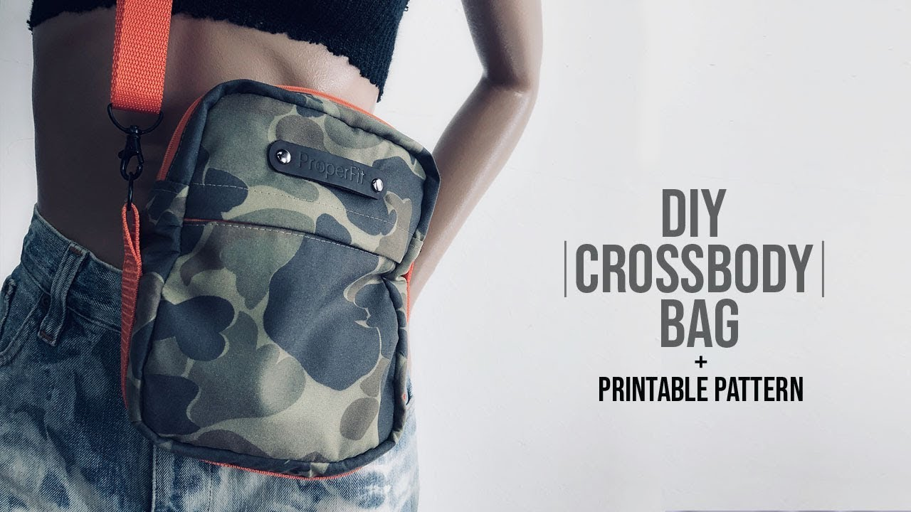 Personalized Camo Cross Body Bag 2 Sizes