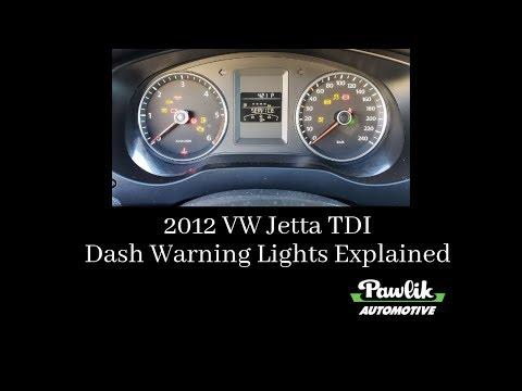2012 VW Jetta TDI, Dash Warning Lights Explained