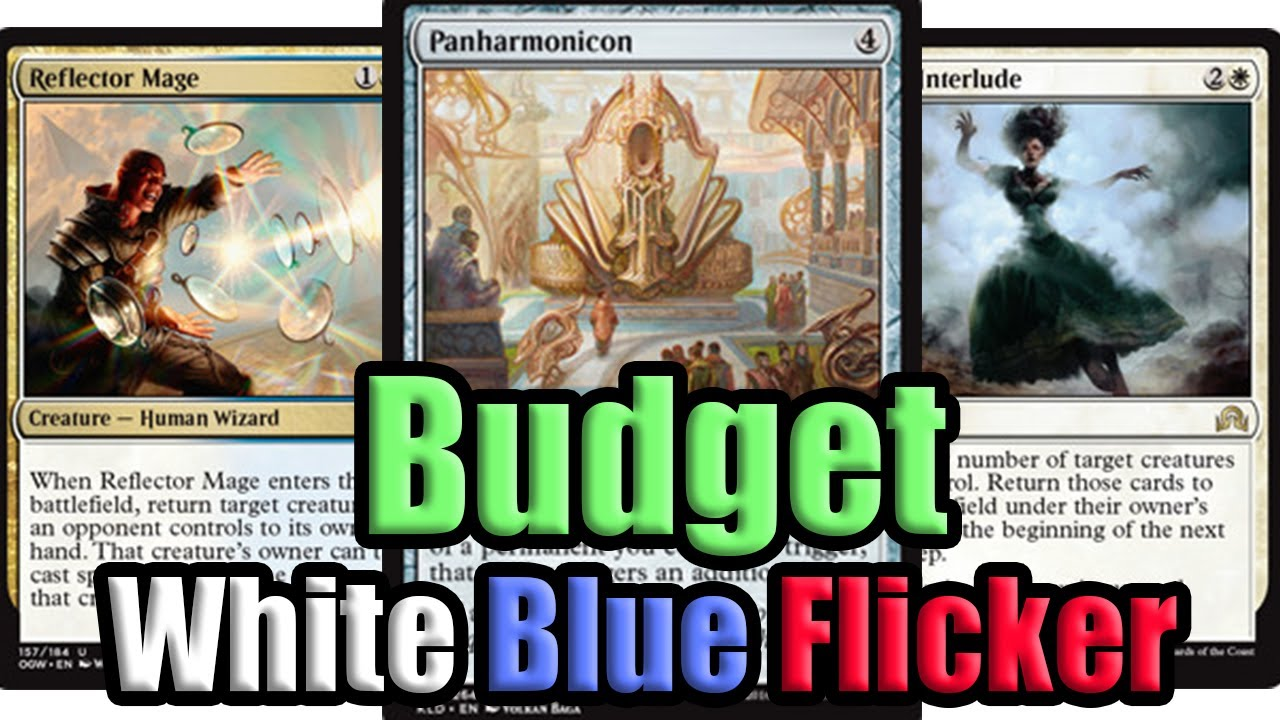 mtg budget white blue flicker deck tech and match 1 youtube