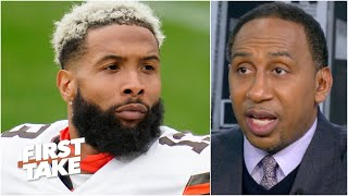 Odell Beckham Jr.'s season is over with a torn ACL, Stephen A. reacts | First Take