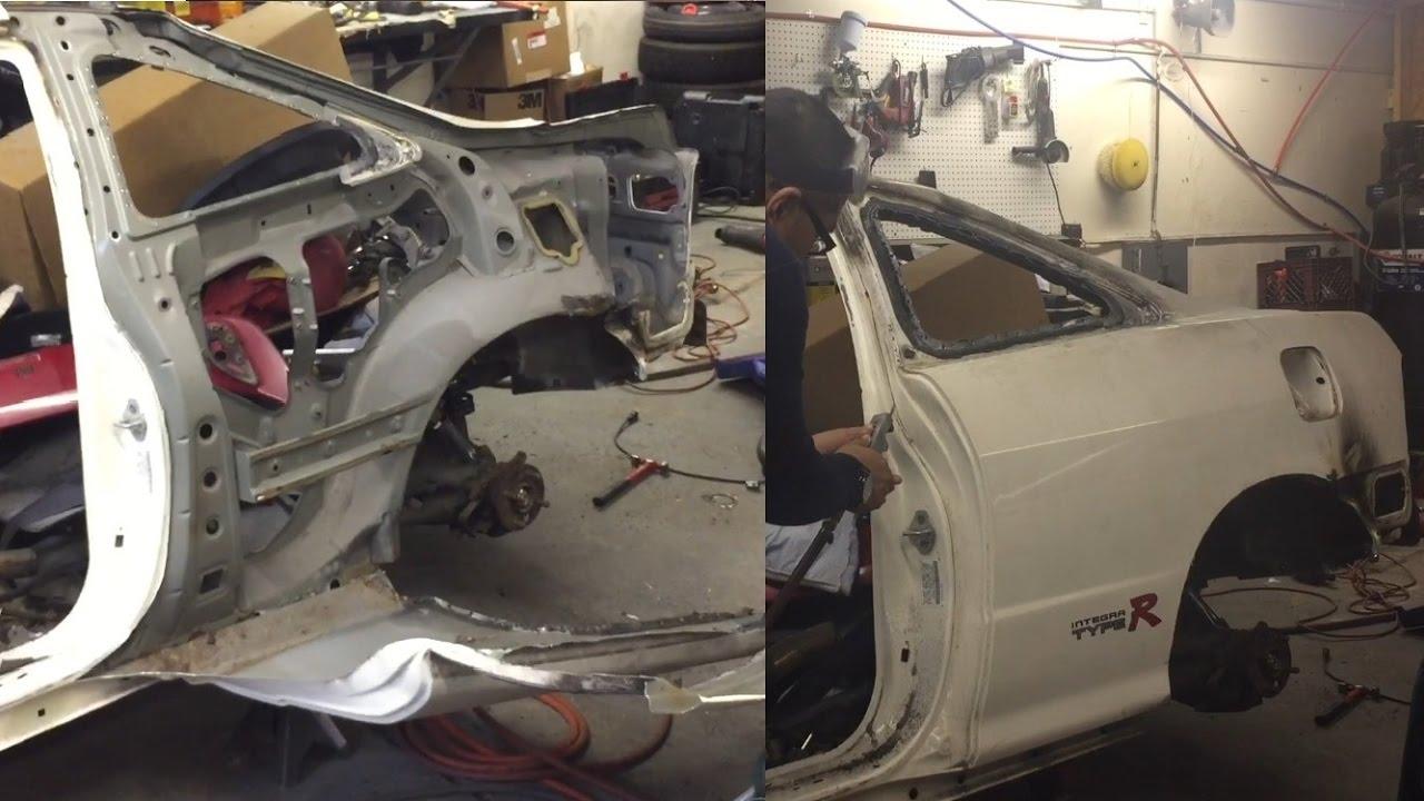 DC2 Integra Rear Quarter Panel Removal - YouTube