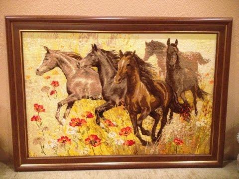 крестиком картинки вышивка лошадей