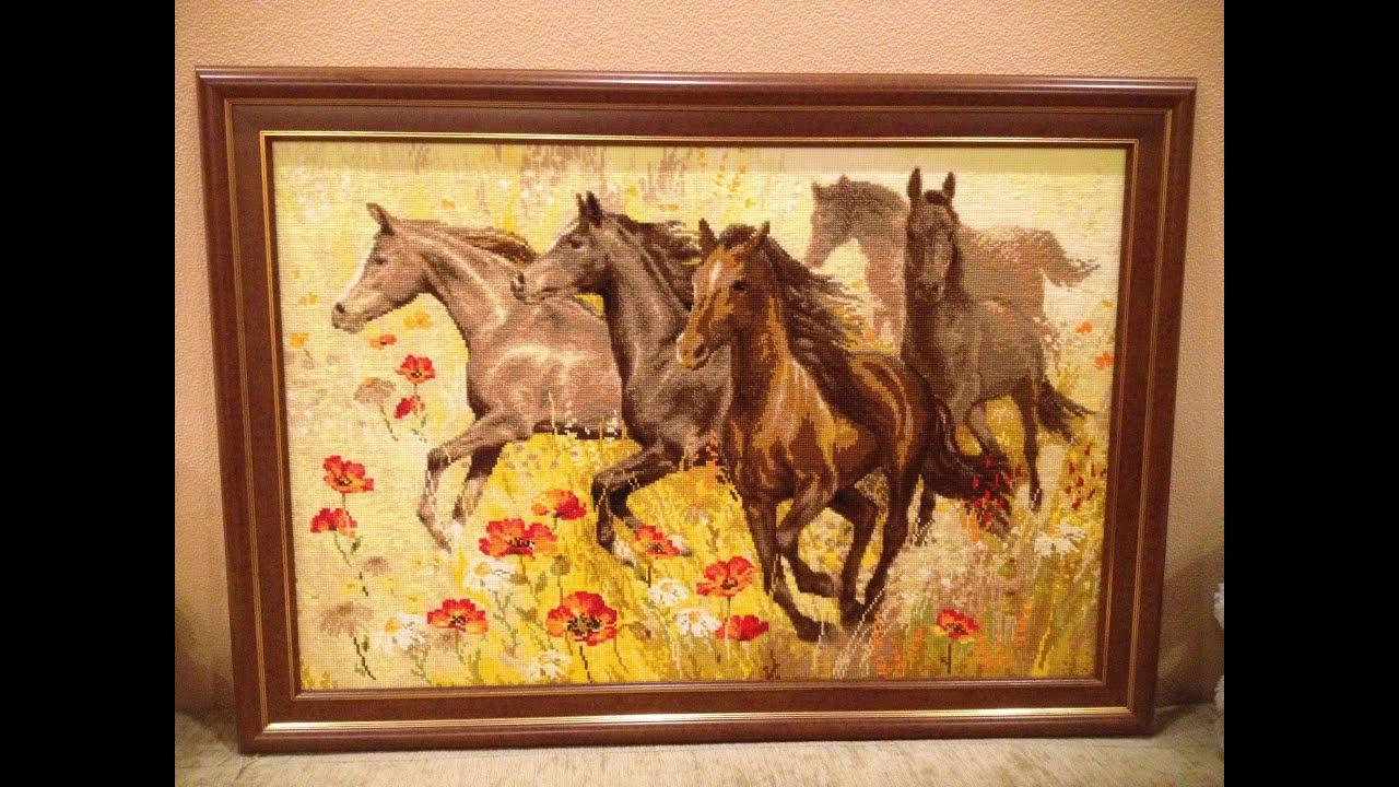 Вышивка риолис конь
