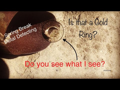 Metal Detecting San Diego Beaches- Some strange things found at the beach-Spring Break Gold Ring!!